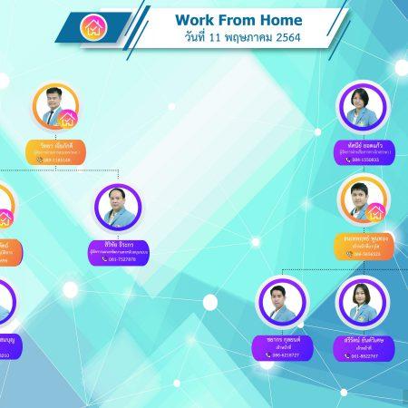 ตารางการปฏิบัติงานช่วง Work From Home